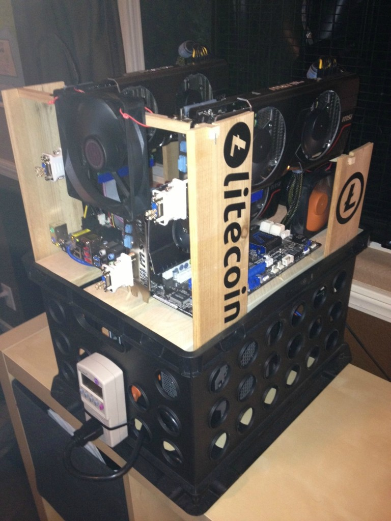 Little Ghetto Litecoin Mine Rig mod