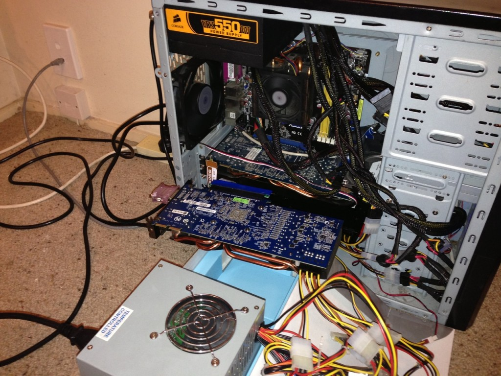 The 256 GPU900 MEM1100 Litecoin Rig mod