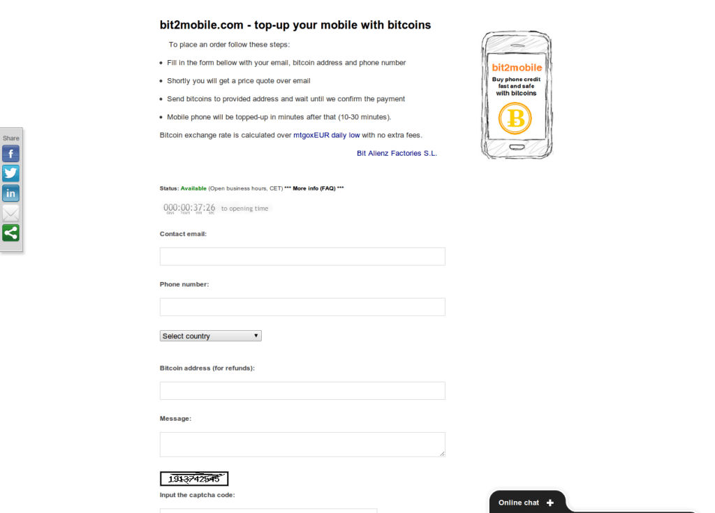 Top Up Your Mobile with Bitcoins mod