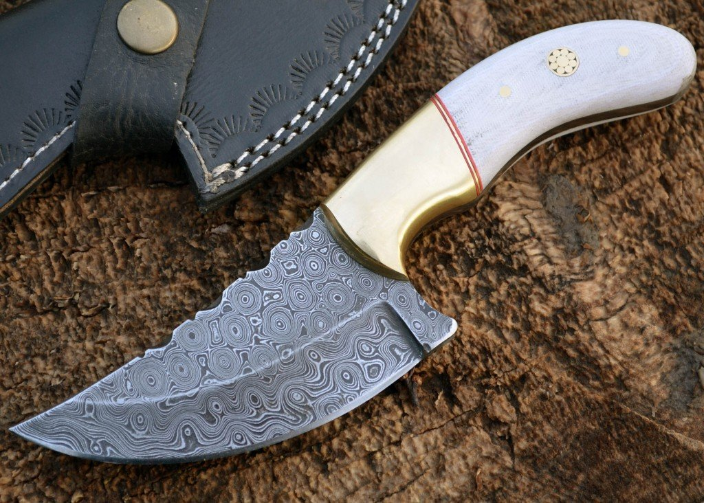 White Damascus Hunting Knife mod