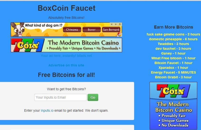 Boxcoin Faucet mod