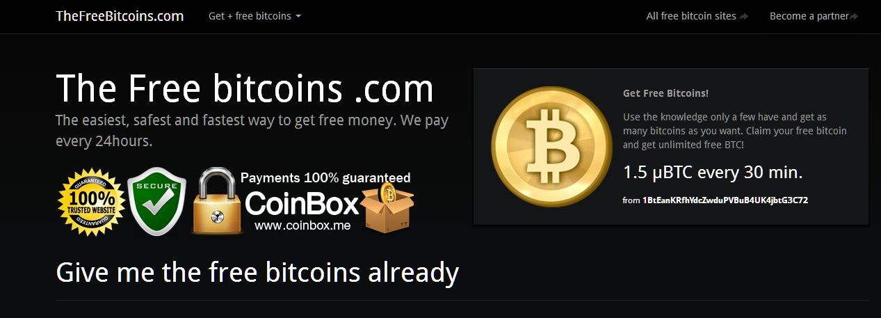 The Free Bitcoins com mod