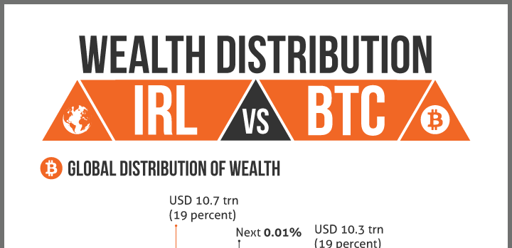Wealth distribution Part II: fiat currency vs BTC [infographic]
