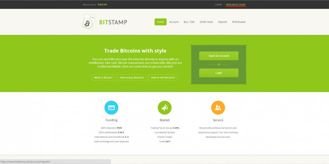 Bitstamp Open Bitcoin Account