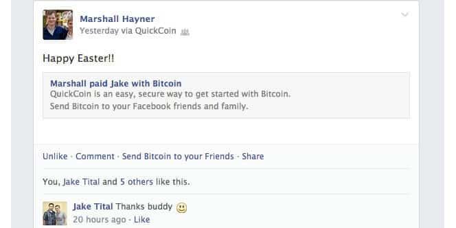 QuickCoin Facebook
