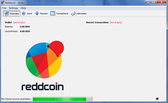 Reddcoin Normal Dashboard