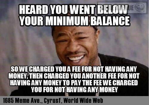 Below Min Balance