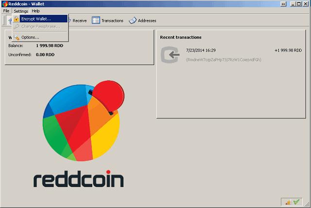 Encrypt Old Reddcoin Wallet