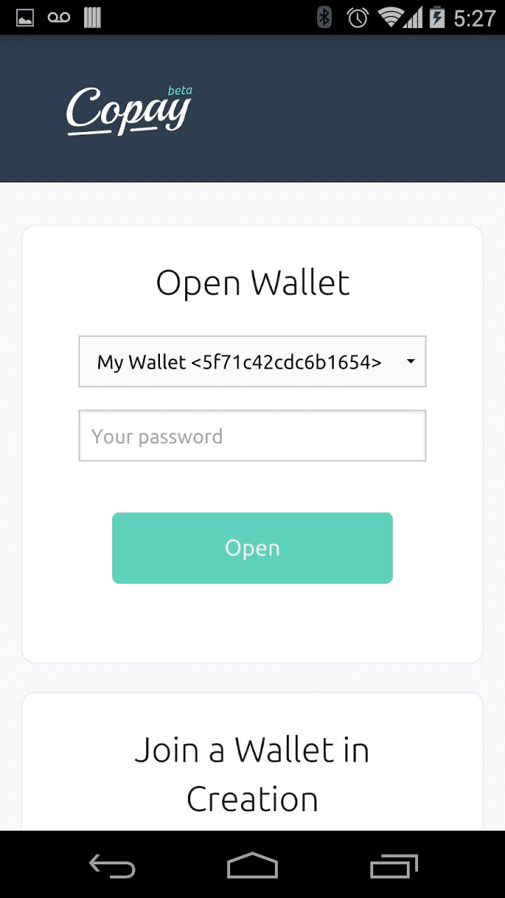 Copay Open Wallet
