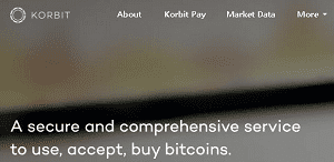 Korbit Home Page