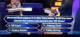 "Bitcoin featured on ""Who Wants To Be A Millionaire?"""