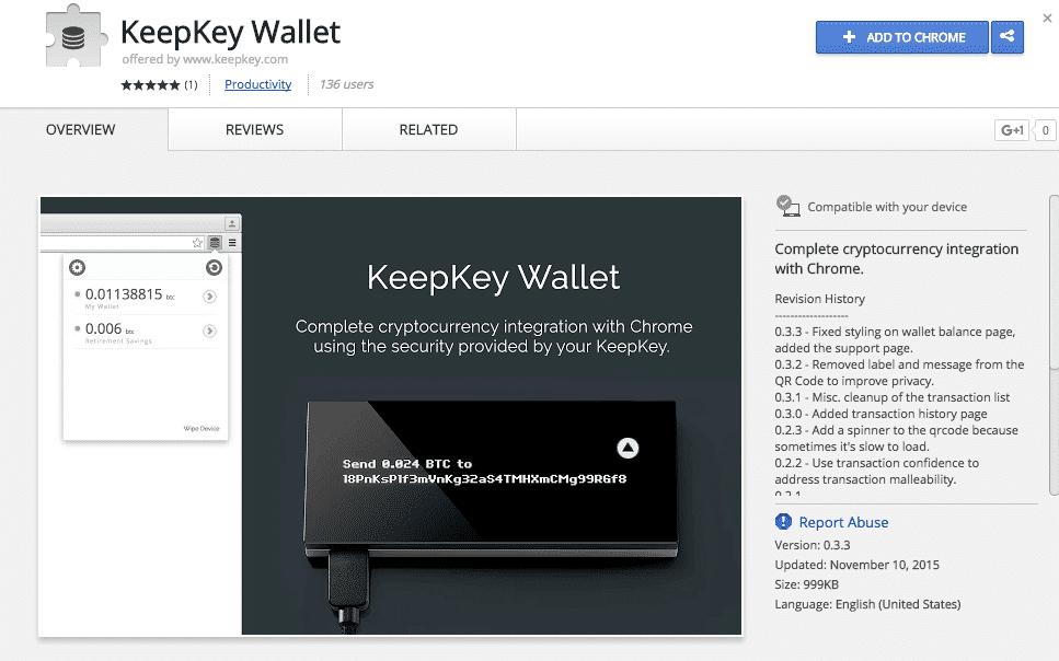 keepkey chrome app