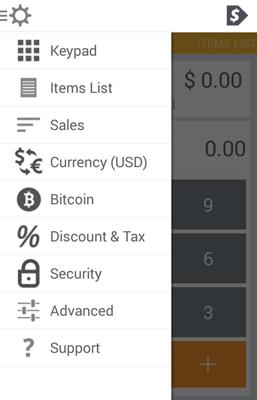 coinbox menu