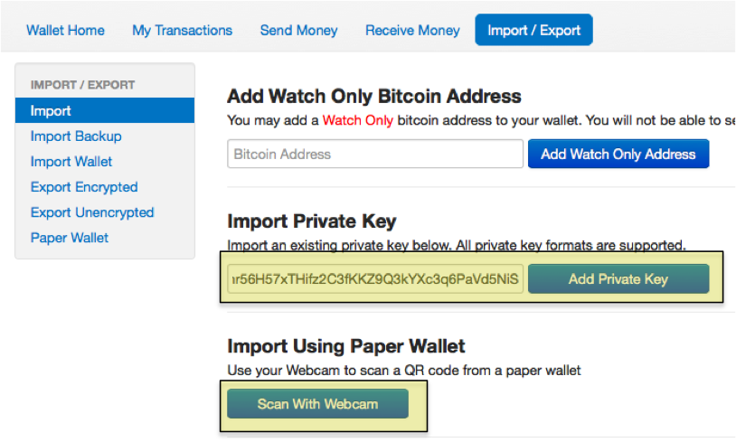 How To Send Bitcoins From A Paper Wallet | 99 Bitcoins