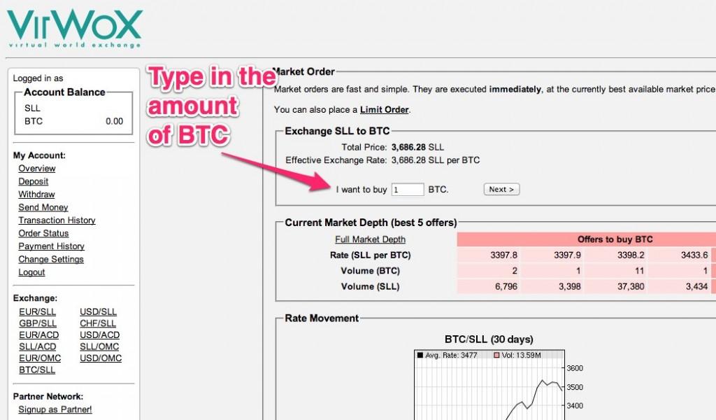 Exchange BTC_SLL