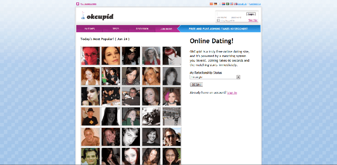 Since its launch in 2004, OkCupid has become one of the worlds fastest-growing dating sites..