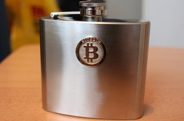 Bitcoin-hip-flask