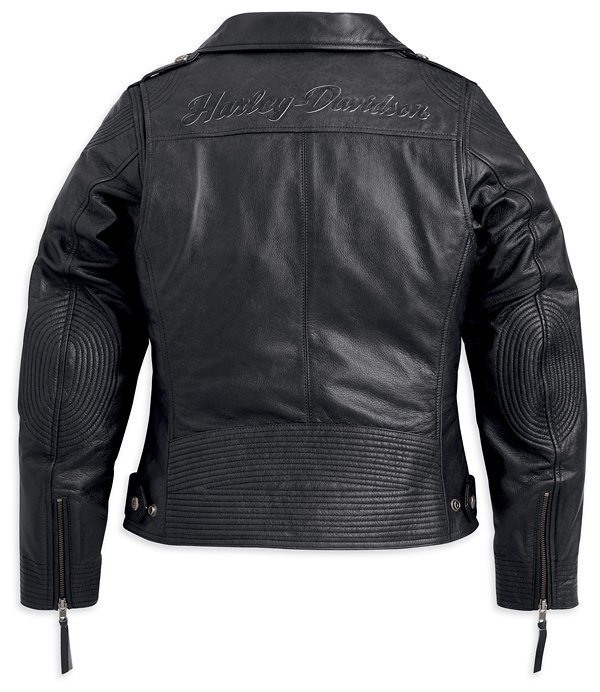 Harley davidson leather biker jacket mod