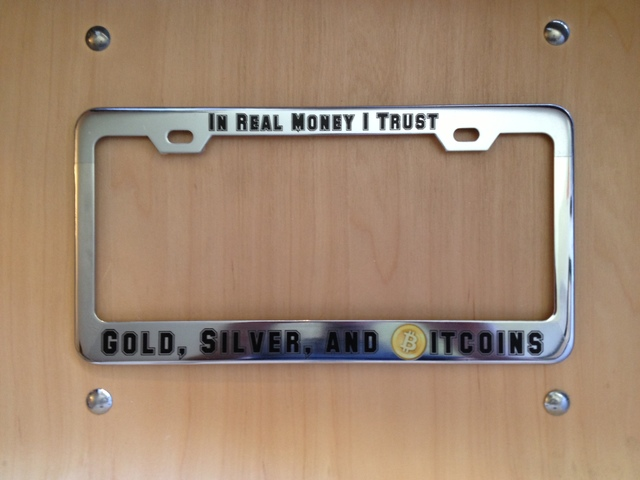 Modest Bitcoin Plate Frame mod
