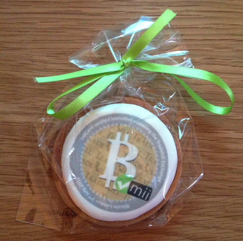 A rather nifty edible Bitcoin from BTC London MOD