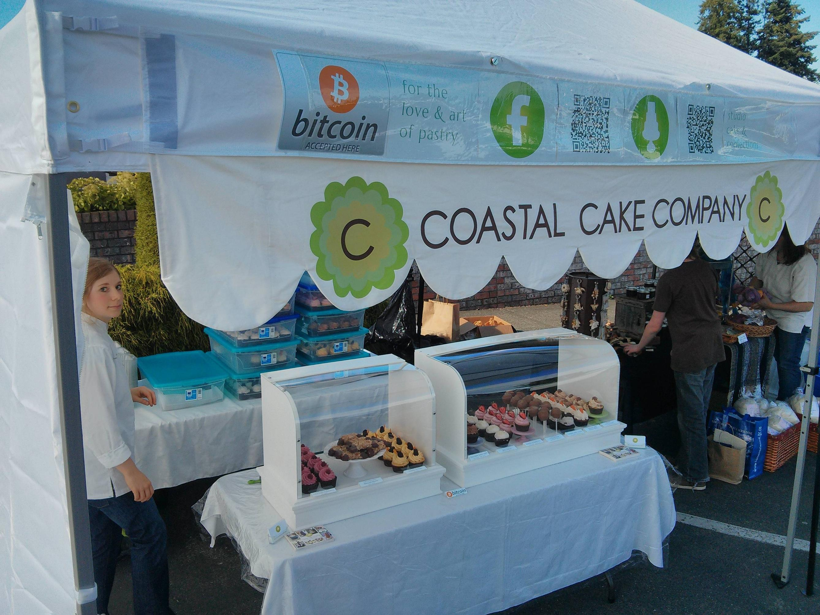 First time accepting Bitcoin for cupcakes at the Craig Street Market in Parksville, BC mod