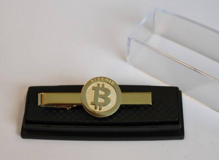 Gold Plated Bitcoin tie pin