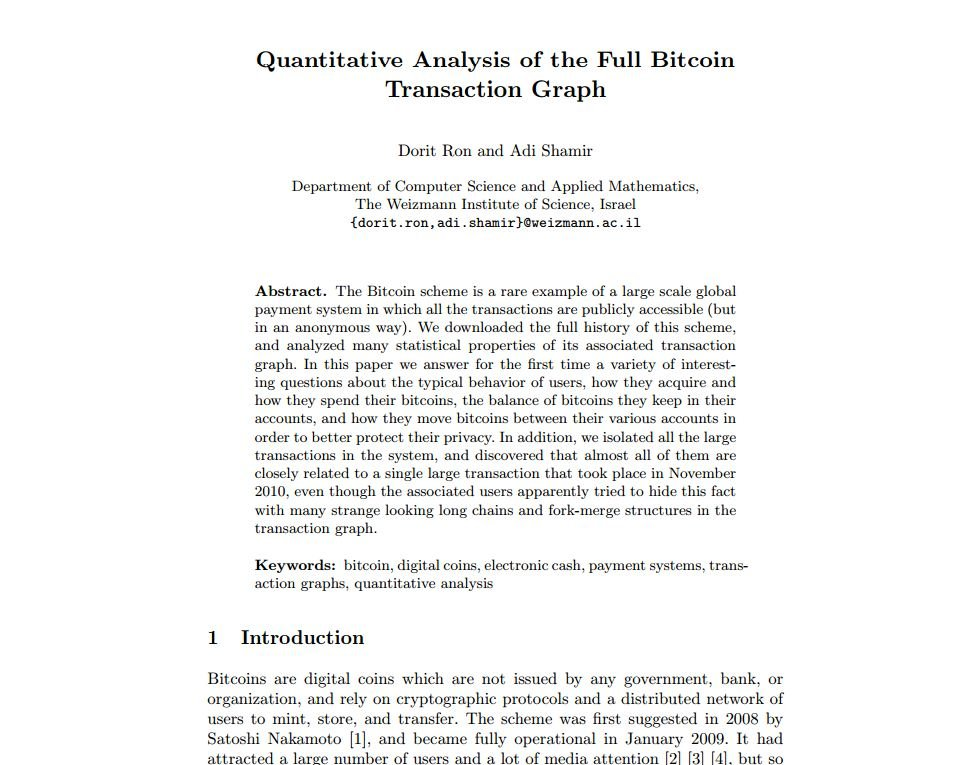 Quantitative Analysis of the Full Bitcoin mod