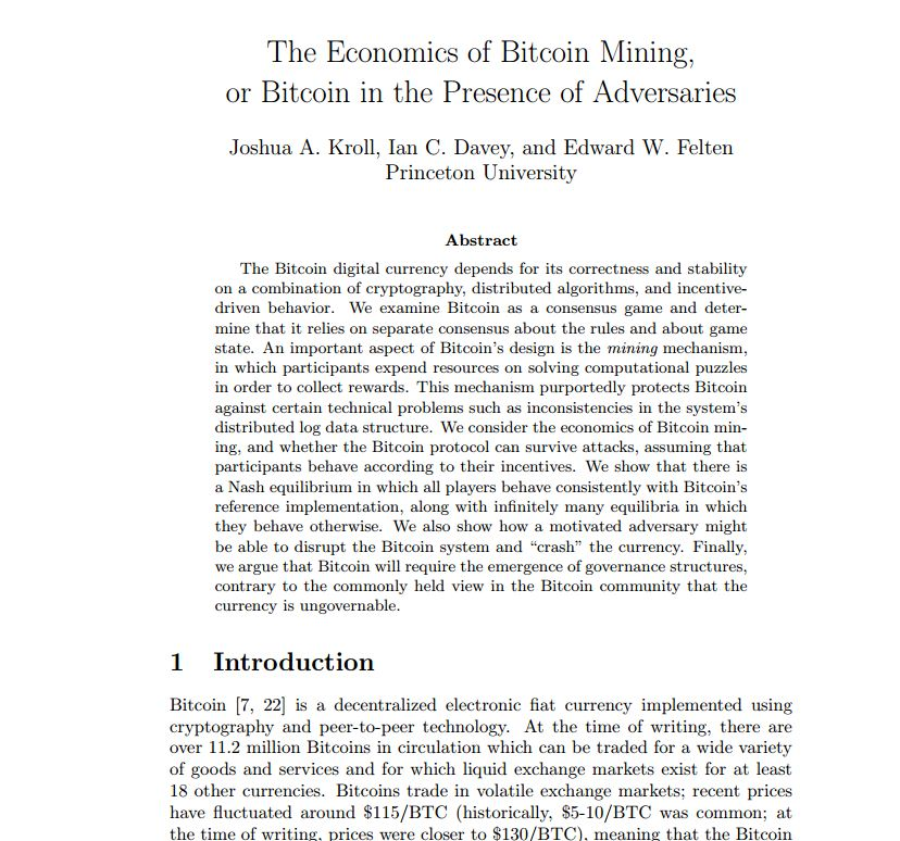 The Economics of Bitcoin Mining or, Bitcoin in the Presence of Adversaries mod