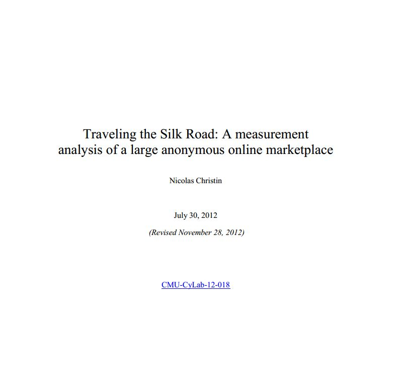 Traveling the Silk Road  A measurement analysis of a large anonymous online marketplace mod
