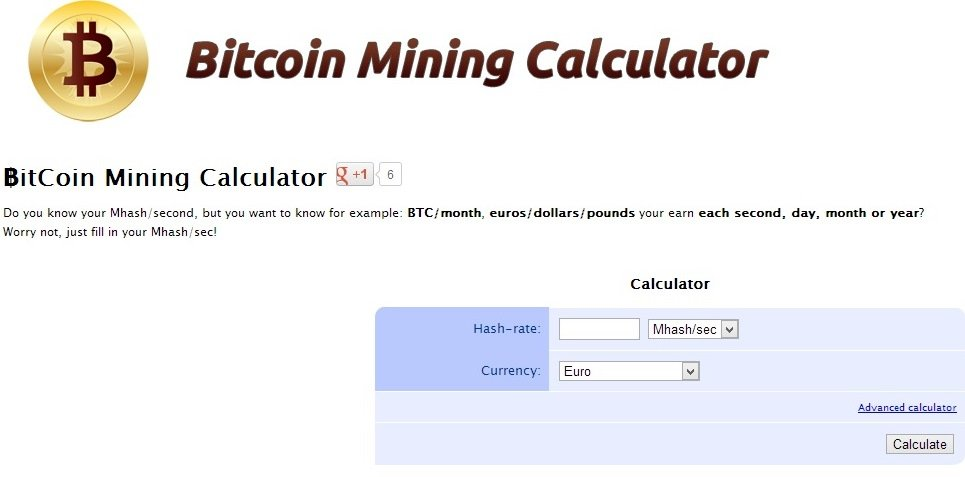 Bitcoin Mining Calculator Deutsch