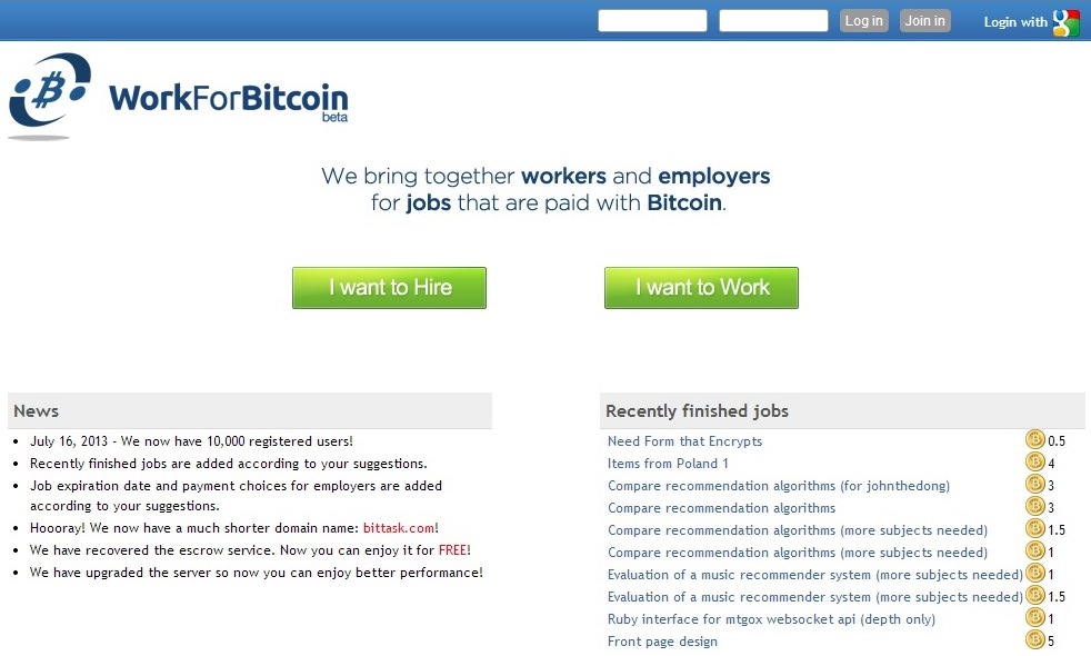 Looking to work and get paid in bitcoin here are six websites that bittask popularly known as work for bitcoin reached 10000 registered users back in july and is super simple to use whether you need ccuart Choice Image