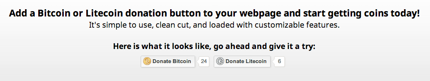 CoinWidget donation widget BTC