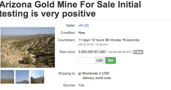 A gold mine for Bitcoin