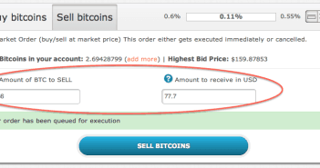 Sell Bitcoins at a profit