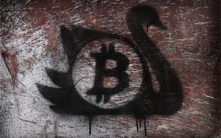 Bitcoin Black Swan graffiti  mod