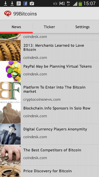 Bitcoin ticker news feed