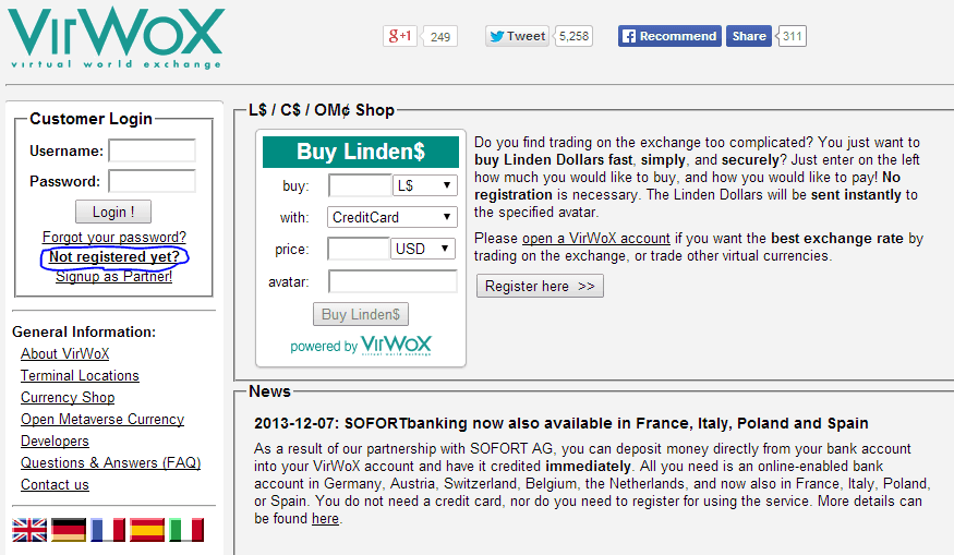 virwox-register