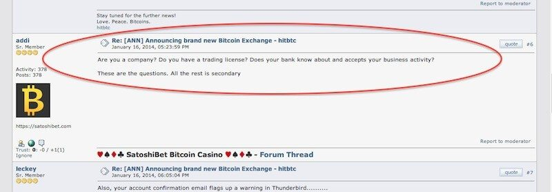 bitcointalk users on HitBTC