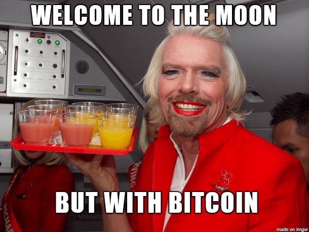 Richard Branson Bitcoin Moon