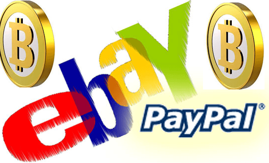 ebay and paypal accepts bitcoins