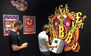 Customers purchasing Bitcoin at CeX's new ATM