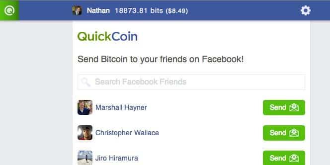 QuickCoin screenshot