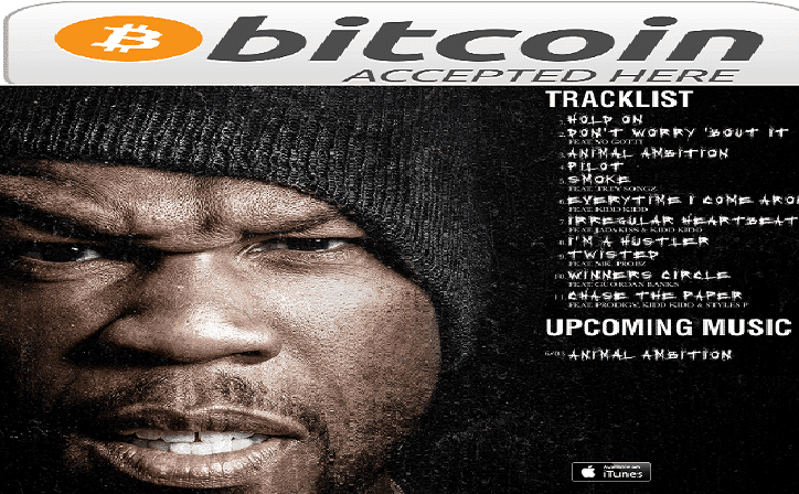 50 cent accepting bitcoins for new album animal ambition