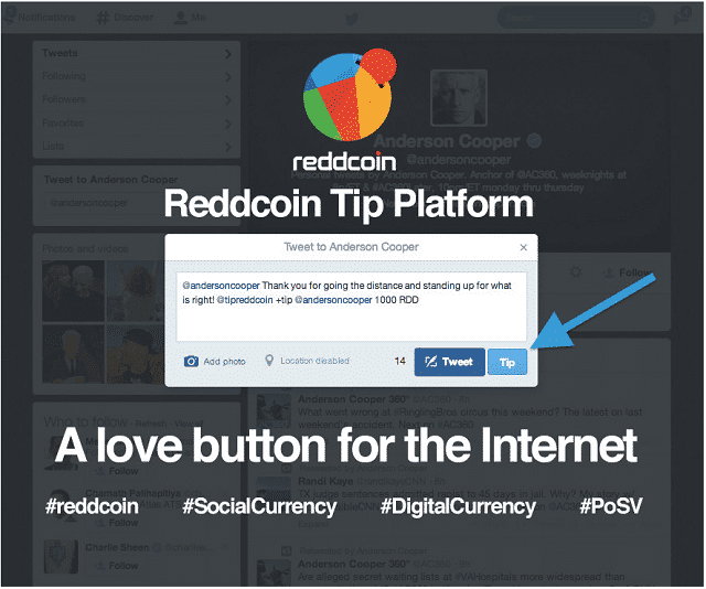 "Reddcoin reveals a ""Social Wallet"", POSV updates, and a Social Platform."