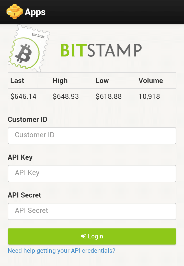 Hive's native app for Bitstamp