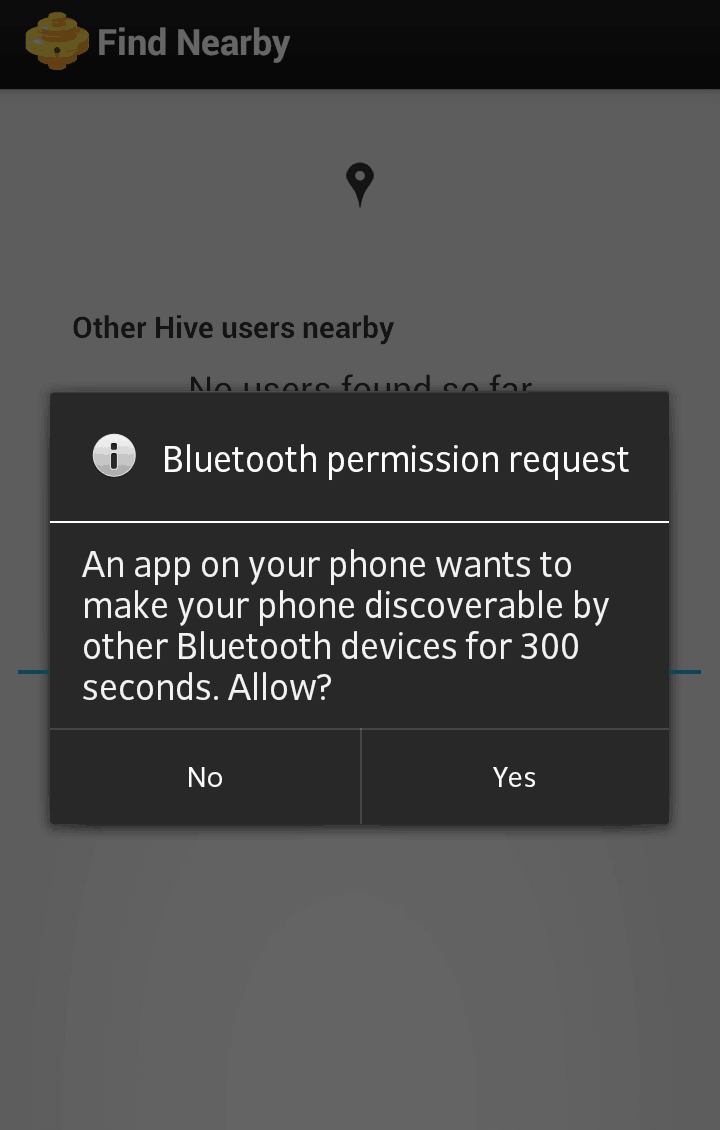 Hive Bitcoin wallet bluetooth permission