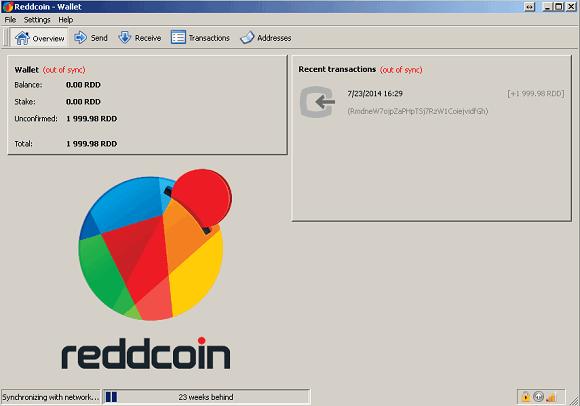 Reddcoin Wallet Syncing