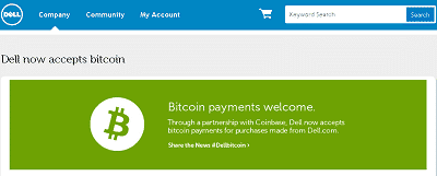 Dell Now Accepts Bitcoin