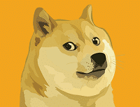 Dogecoin's Mascot - A Serious Shiba Inu
