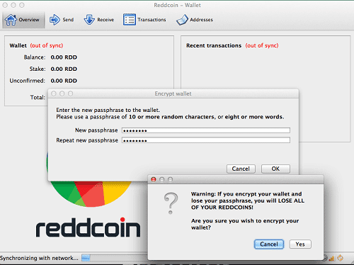 Step 15 - Encrypt Your Reddcoin Wallet
